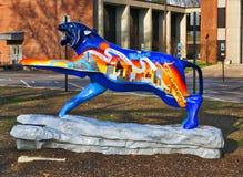Rua Tiger Statue pintado à mão temático de Beale, Memphis Tennessee fotografia de stock royalty free