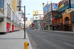 Rua Toronto Canadá de Younge Fotos de Stock