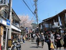 Rua tradicional da compra em Kyoto Foto de Stock Royalty Free