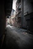 Rua traseira dentro na cidade Foto de Stock Royalty Free