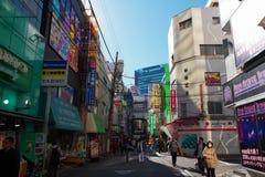 Rua traseira em Akihabara no Tóquio, Japão Imagem de Stock Royalty Free