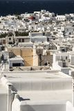 Rua traseira Mykonos Grécia Fotografia de Stock