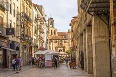 Rua vívida em Salamanca Foto de Stock Royalty Free