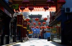 Rua vazia do petisco do Pequim Foto de Stock