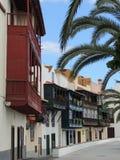 Rua vazia em Santa Cruz, La Palma, Ilhas Canárias, Espanha Imagens de Stock Royalty Free