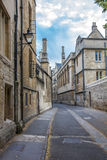 Rua velha bonita em Oxford, Inglaterra Imagem de Stock Royalty Free