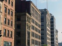 Rua velha Boston de Tremont dos edifícios Fotos de Stock Royalty Free
