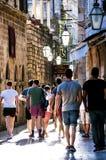 Rua velha da cidade de Dubrovnik Fotos de Stock Royalty Free