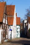 Rua velha da cidade em Klaipeda Fotografia de Stock