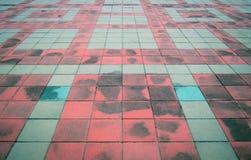 Rua velha da textura do fundo do sumário do pavimento da pedra foto de stock royalty free