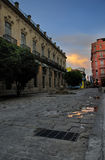 Rua velha de havana Imagens de Stock