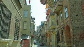 Rua velha de Istambul - distrito de Phanar vídeos de arquivo
