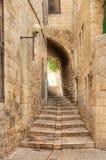 Rua velha de Jerusalem. Fotografia de Stock Royalty Free
