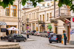 Rua velha de Kutaisi Fotos de Stock Royalty Free