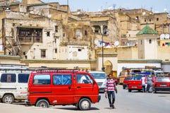 Rua velha de Medina do fez, Marocco Fotografia de Stock Royalty Free