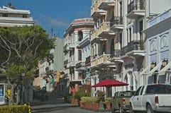 Rua velha de San Juan Foto de Stock