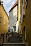 Rua velha de Tallinn, Estónia Fotografia de Stock Royalty Free