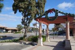 Rua velha do olmo da cidade, Camarillo, CA Fotos de Stock