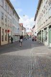Rua velha em Gothenburg fotos de stock