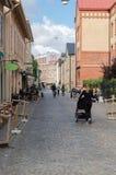 Rua velha em Gothenburg fotografia de stock