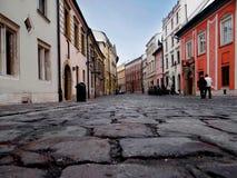 Rua velha em Krakow, Imagem de Stock
