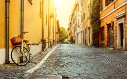 Rua velha em Roma Imagens de Stock