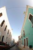 Rua velha em San Juan, Puerto Rico Fotografia de Stock