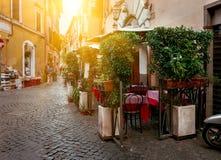 Rua velha em Trastevere em Roma Foto de Stock Royalty Free