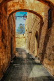 Rua velha em Victoria em Gozo Fotos de Stock Royalty Free