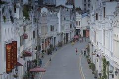 Rua velha histórica em Hainan, China imagens de stock