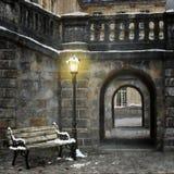 Rua velha na cidade Fotografia de Stock
