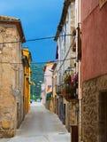 Rua velha na cidade catalan Besalu Imagem de Stock Royalty Free