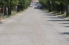 Rua velha na cidade pequena Imagem de Stock Royalty Free
