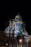 Ruaaugusta's Boog in Lissabon Royalty-vrije Stock Foto