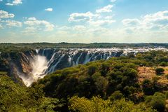 Ruacana Falls in Northern Namibia, Africa wilderness royalty free stock images