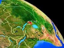 Ruanda auf Planet Erde lizenzfreie abbildung