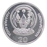Ruanda-Frankenmünze Lizenzfreies Stockbild