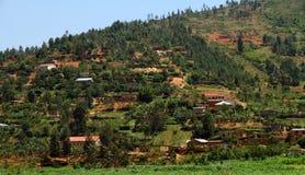 Ruandische Landschaft lizenzfreie stockbilder
