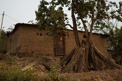 Ruandisches Adobe-Haus, Kiwusee, Kibuye, Ruanda Lizenzfreie Stockbilder