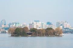 Ruangong Islet at West Lake, Hangzhou Stock Photography
