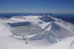 Ruapehu Crator vulcânico fotografia de stock