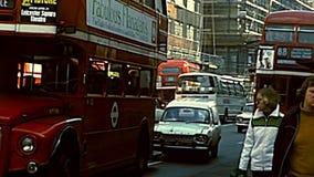 Ruas arquivísticas de Soho em Londres video estoque