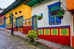 Ruas bonitas e coloridas em Guatape, conhecido Imagens de Stock Royalty Free