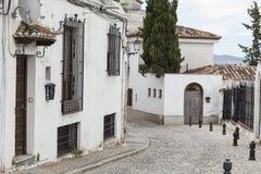 Ruas brancas de Granada imagem de stock