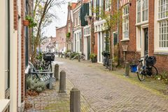 Ruas da cidade bonita de Haarlem, Países Baixos Fotografia de Stock