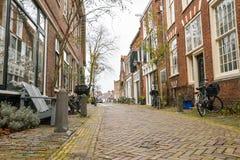 Ruas da cidade bonita de Haarlem, Países Baixos Imagem de Stock Royalty Free