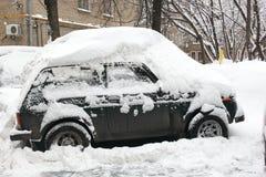 Queda de neve na cidade. Foto de Stock Royalty Free