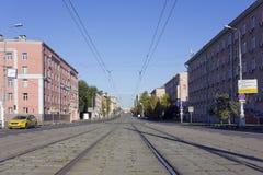 Ruas da cidade de Moscou Imagens de Stock