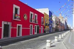 Ruas da cidade de Puebla, México Fotos de Stock Royalty Free