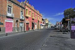 Ruas da cidade de Puebla, México Fotografia de Stock Royalty Free